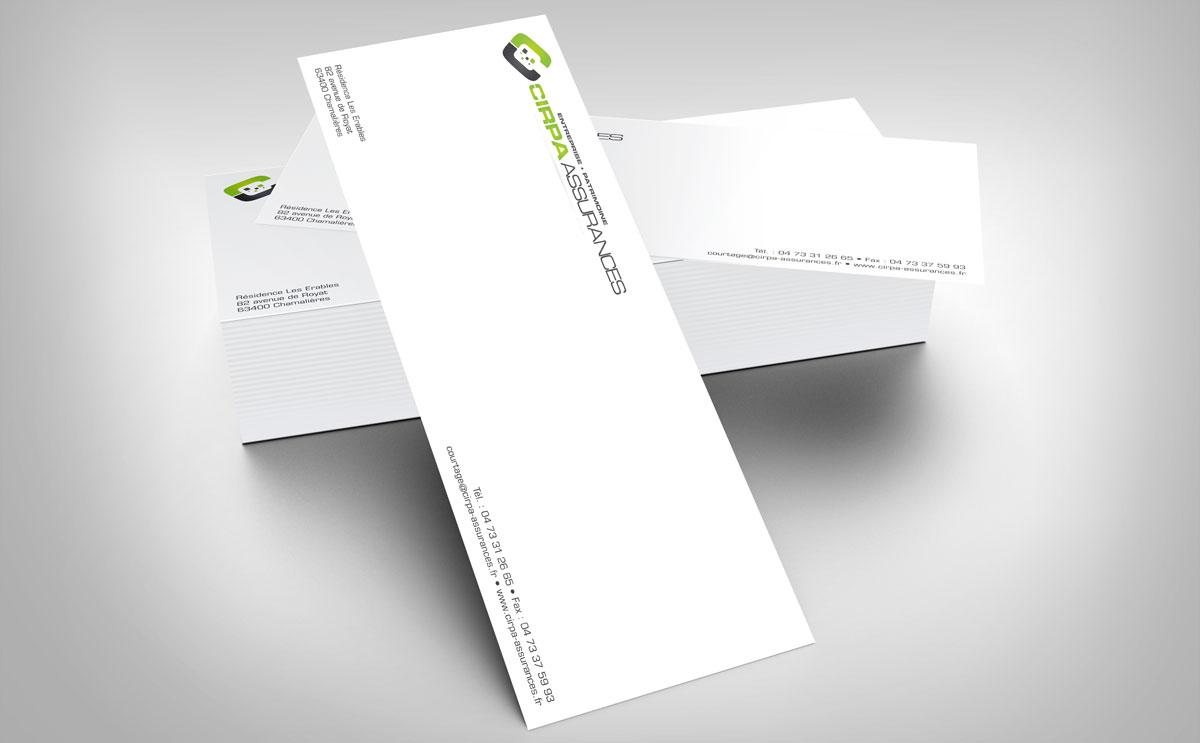 Cartes De Correspondance CIRPA Assurances