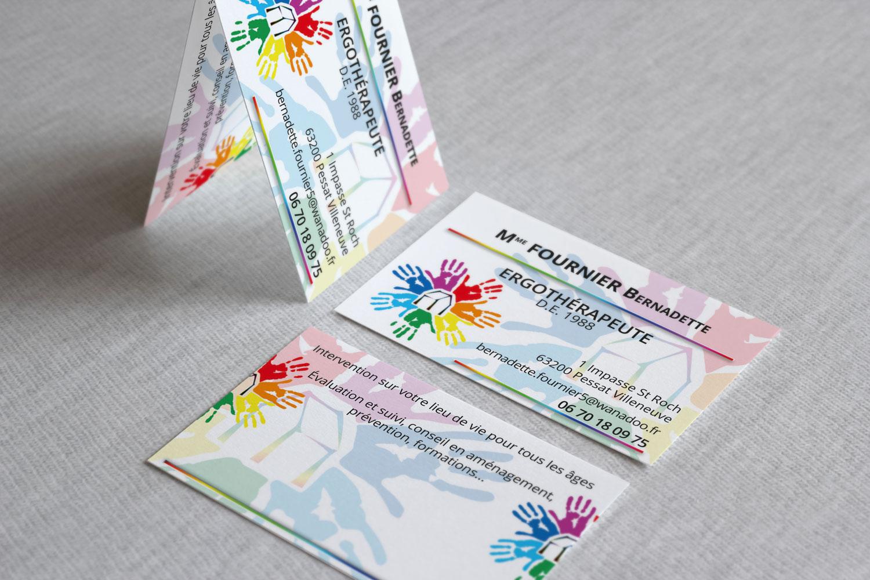 Cartes De Visite Ergotherapeute A Domicile