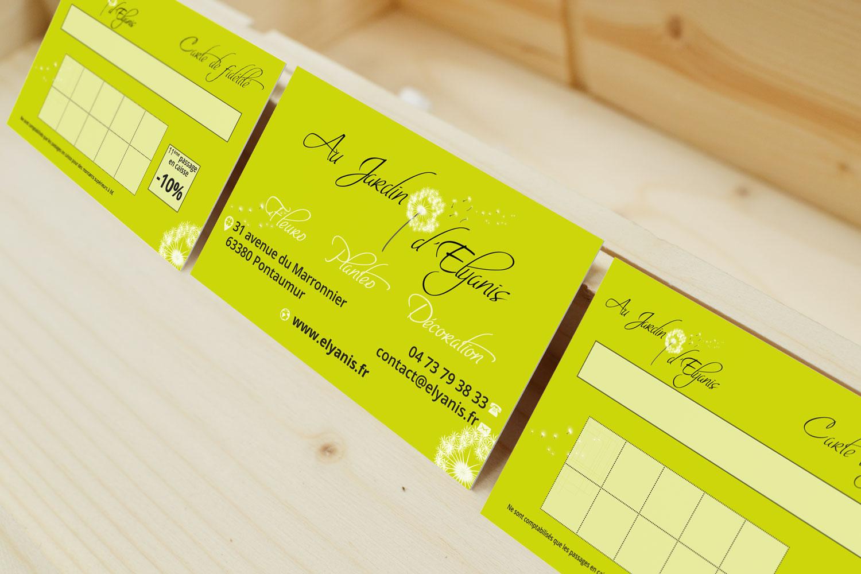 Cartes De Visite Et De Fidlit Au Jardin DElyanis